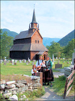 Travelogue Stave churches in South Norway with 33 photos