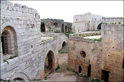 Syria - Buildings in Krak des Chevaliers