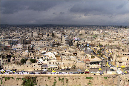 Syria, Aleppo - View of Aleppo from the citadel