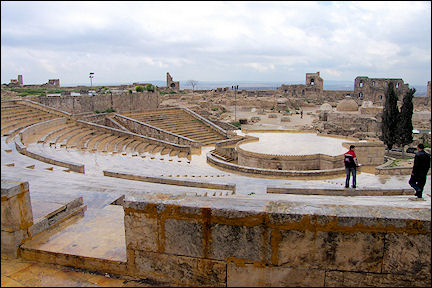 Syria, Aleppo - The auditorium of the citadel