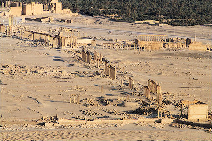 Syria, Palmyra - View of ruins