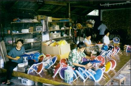 Thailand - Bo Sang, parasol workshop