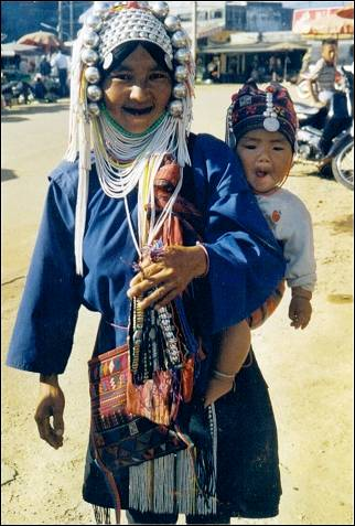 Thailand - Akha woman with child