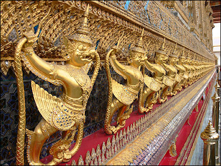 Thailand - Bangkok, Wat Phra Kaew, Temple of the Emerald-Green Buddha