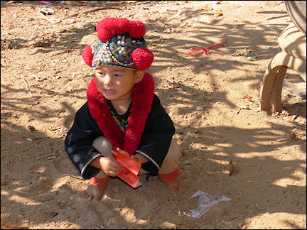 Thailand - Chiang Rai, little boy, Akha mountain tribe