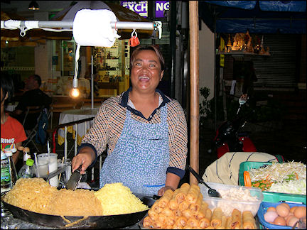 Thailand - Bangkok, food stall in Thanon Khao San
