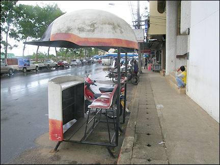 Thailand - Chiang Mai, seats for traffic police