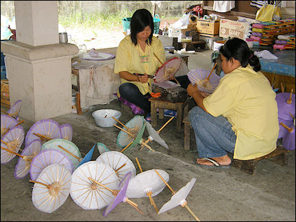 Thailand - Bo Sang, umbrella workshop