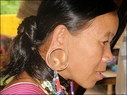 Thailand - Karen woman with stretched earlobes