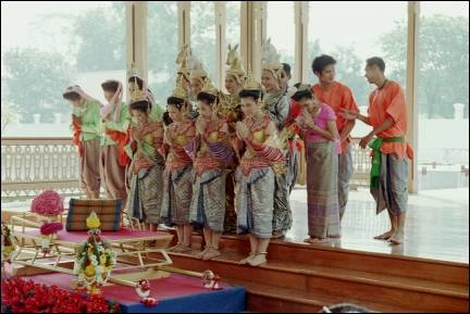 Thailand - Bangkok, dancers in palace