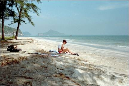 Thailand - Khao Sam Roi National Park, deserted beach