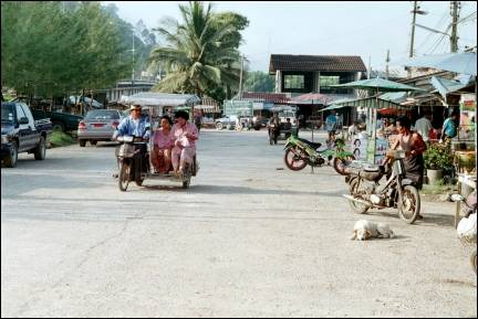 Thailand - moped taxi in village