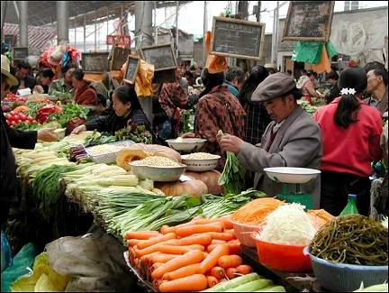 Tibet - The indoor market of Lhasa