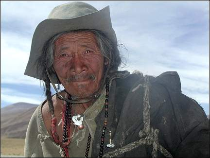 Tibet - Shepherd in the desert