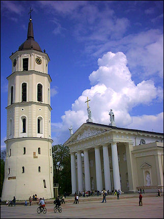 Lithuania, Vilnius - Cathedral and belltower
