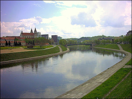 Lithuania, Vilnius - View of the Neris