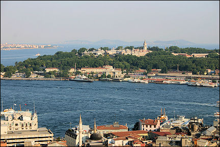 Turkey - Istanbul, in the foreground the Golden Horn, in the background left the Sea of Marmara