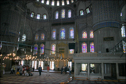 Turkey - Istanbul, interior Blue Mosque