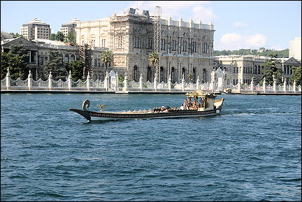 Turkey - Istanbul, Dolmabahçe Palace from the Bosphorus