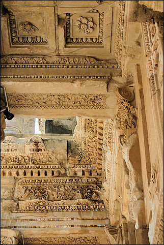 Turkey - Ephesus, ceiling Celsus library