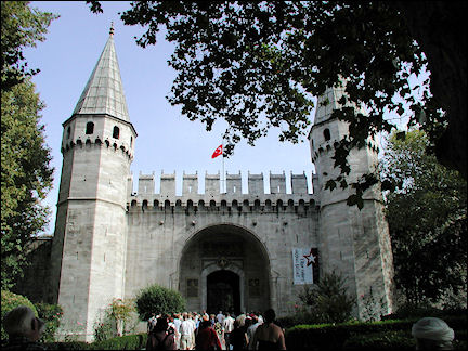 Turkey, West Anatolia - Istanbul, entrance Topkapi Palace