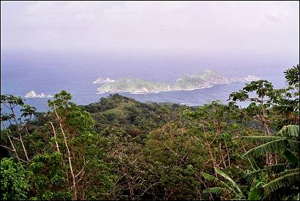 Trinidad and Tobago; - Panoramic viewpoint over Charlotteville