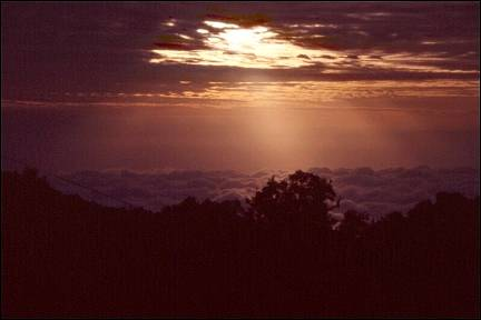 Tanzania - Sunset in the mountains
