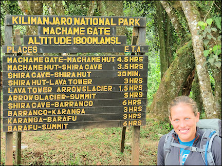 Tanzania - Machame Gate, Kilimanjaro National Park