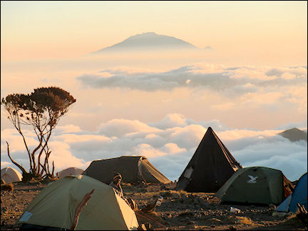 Tanzania - Breathtaking view of Mt.Meru from Shira Camp