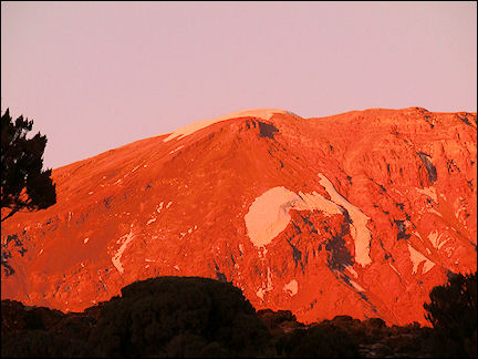 Tanzania - The last rays of the sun on Uhuru peak