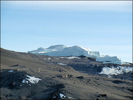 Tanzania - About 30 meters high glaciers, a little below the summit
