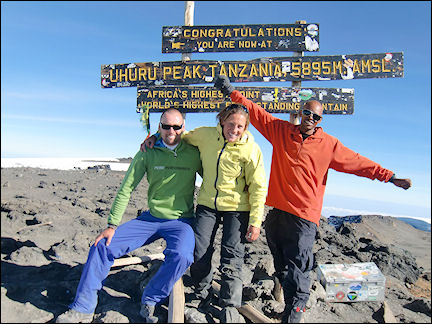 Tanzania - At the summit with our guide