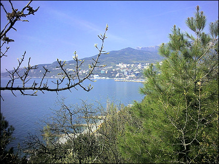 Ukraine - Yalta, view from hotel Yalta