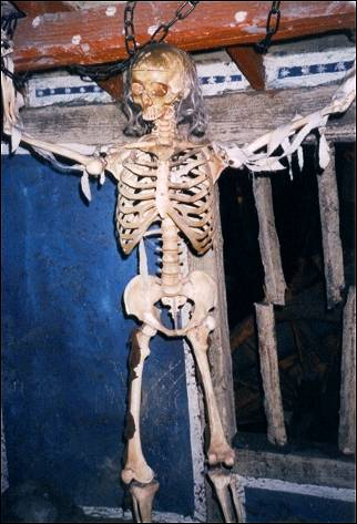 Great Britain, London - London Dungeon, one of many skeletons