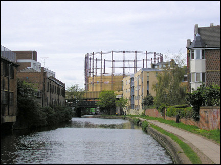 United Kingdom, London - Gas holder at Kachney