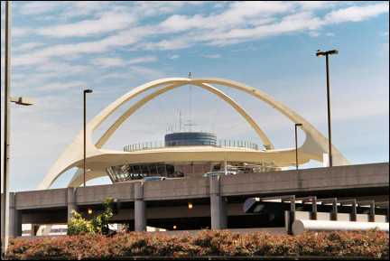 USA, California - The characteristic dome of LAX International Airport