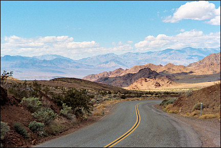USA, California - Highway 178 winds into Death Valley