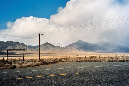 USA, Nevada - Loneliness reigns along Highway 376