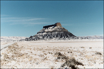 USA, Utah - Factory Butte on the most worthless piece of land in the USA'