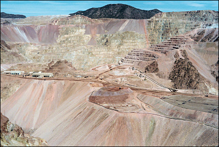 USA, Arizona - Part of the largest copper mine in the USA