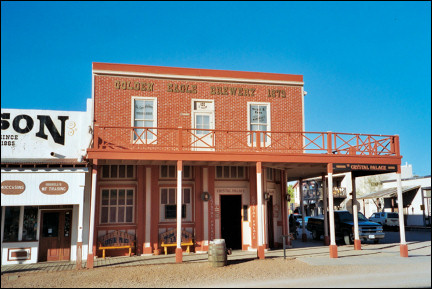 USA, New Mexico - Beer brewery on Allen Street in Tombstone