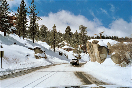 USA, Arizona - Snow in Big Bear City
