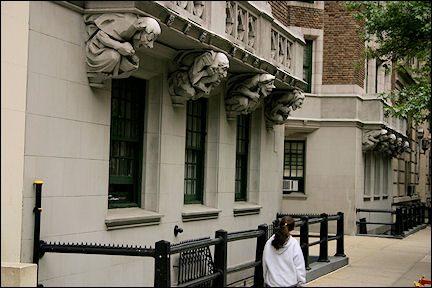 USA, New York - 110<sup>th</sup> Street, detail of an apartment building