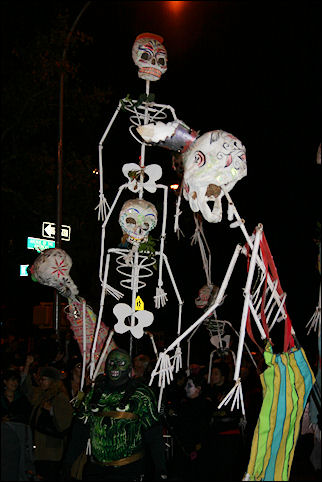 USA, New York - Halloween Parade in The Village