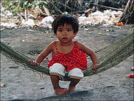 Vietnam - Saigon, girl in hammock