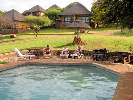 South Africa - Hannah Game Lodge, swimming pool