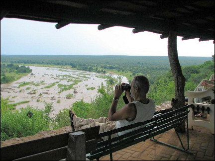 South Africa - Kruger Park, view of the Elephant River from Elephant's Rest Camp