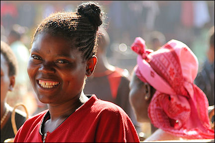Zambia - Petauke, woman in the market