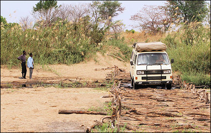 Zambia - Through an almost dry river bed