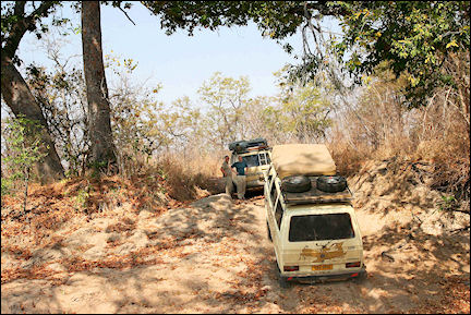Zambia - The route winds through dry riverbeds